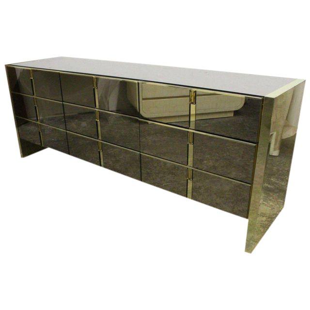 Ello Bronze and Mirror Dresser For Sale