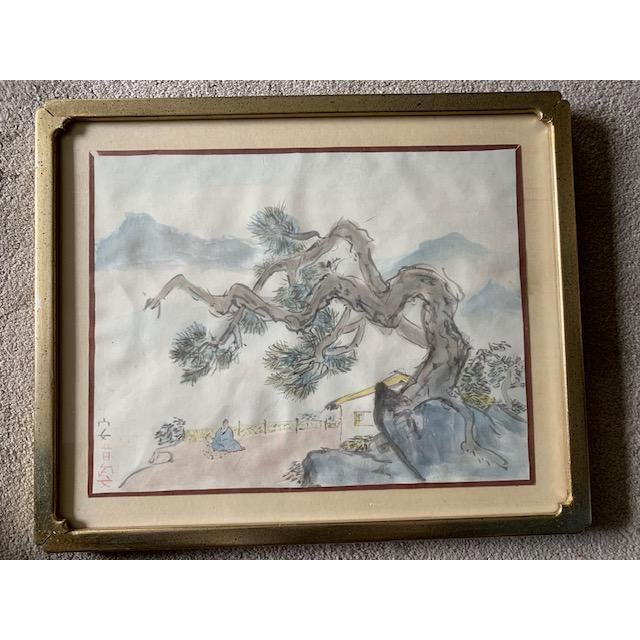Early 20th Century Antique Landscape Watercolor Paintings - Set of 4 For Sale - Image 4 of 10
