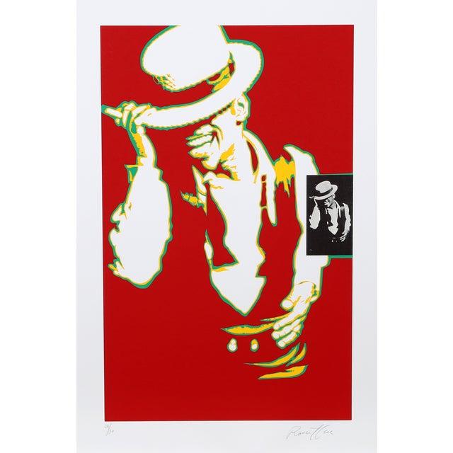 Bernard Rancillac Sammy Davis Jr. Lithograph For Sale