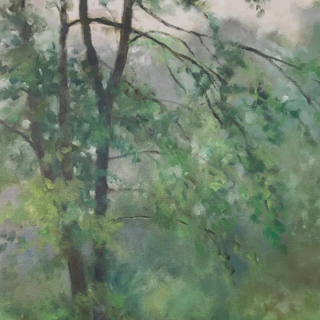 "Thomas McNickle ""Elm in the Rain"" Contemporary Traditional Landscape Oil Painting For Sale - Image 4 of 10"