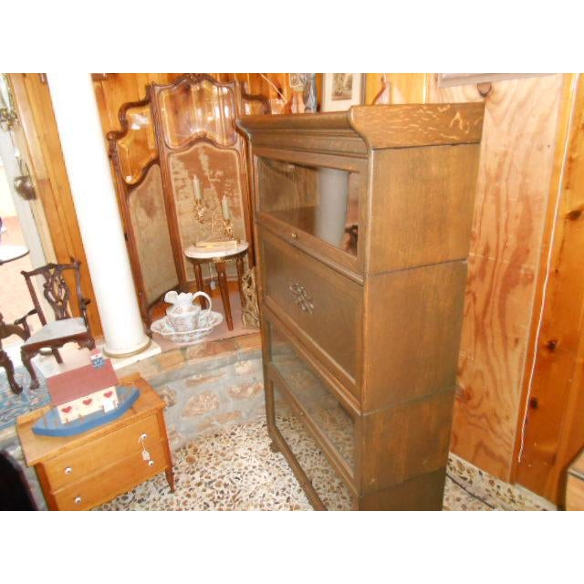 Early 20th Century 1900s Traditional Gunn Barrister Secretary Bookcase For Sale - Image 5 of 11