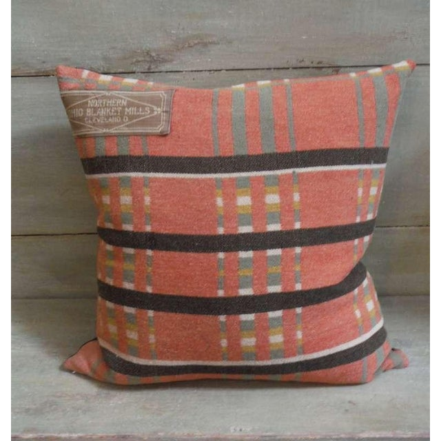 Pair of 19th Century Northern Ohio Blanket Mills Horse Blanket Pillows - Image 3 of 5