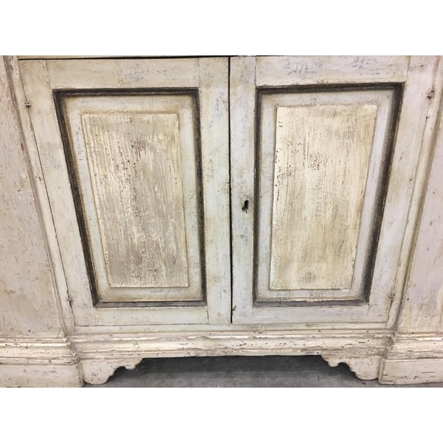 19th Century Italian Tuscan Painted Bookcase Display Cabinet For Sale - Image 11 of 13