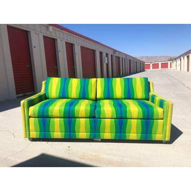 Mid-Century Vintage Pull-Out Bed Love Seat For Sale - Image 12 of 12