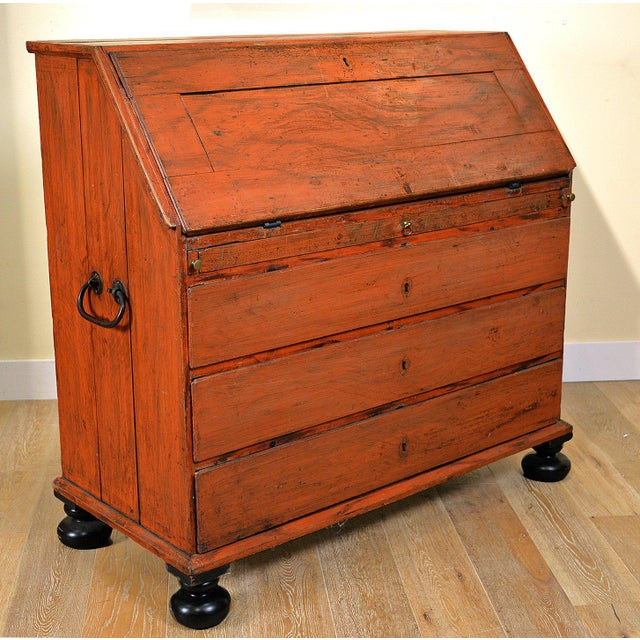 1848 Traditional Continental Slant Front Secretary Desk For Sale - Image 4 of 7