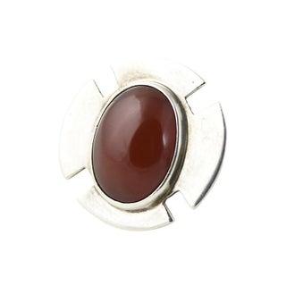 1970s Savitt Silver & Carnelian Earrings Preview