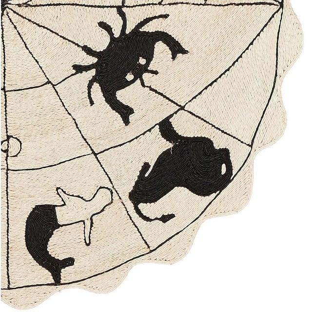 "Modern Modern Charlap Hyman Herrero Astrologia Zodiac Beige Abaca Fiber Round Rug- 5'10"" X 5' 10"" For Sale - Image 3 of 5"