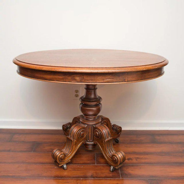 French 19th Century Louis Philippe Oval Table Normandy France For Sale - Image 3 of 9