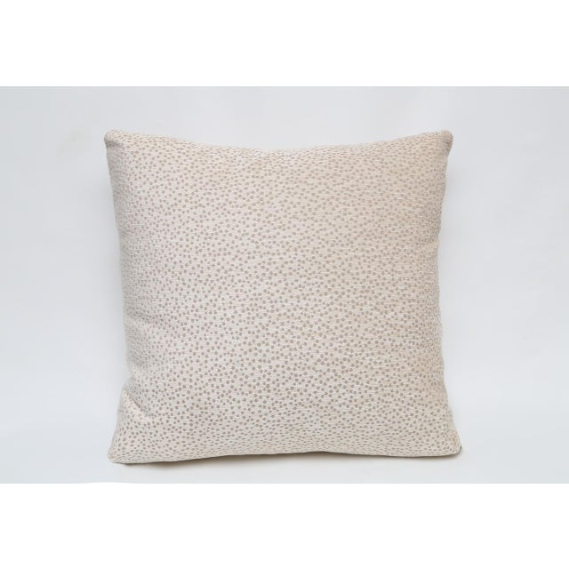 Pillow crafted from a chenille Kravet fabric from the UK. Down-like fill.