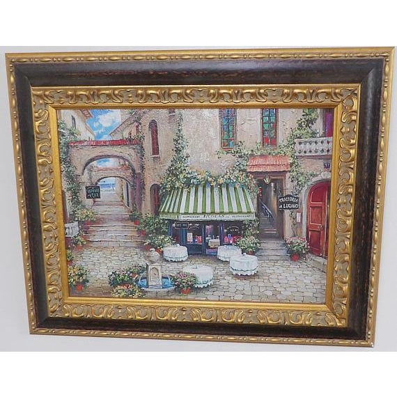 Italian Italian Trattoria Framed Art Prints - A Pair For Sale - Image 3 of 6