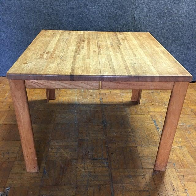 Oak Butcher Block Dining Table - Image 3 of 7