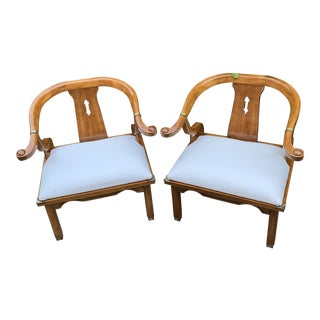 Vintage 1970's James Mont Style Asian Ming Chair - a Pair For Sale