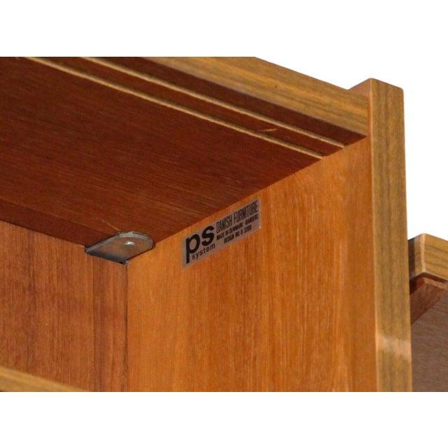 Mid Century Danish 7 Bay Teak Shelving Unit by Ps System For Sale - Image 9 of 13
