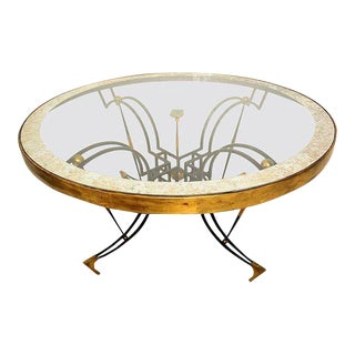 Mexican Modernist Round Dining Table Attributed to Arturo Pani For Sale