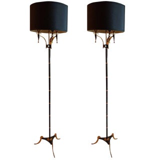 Vintage Maison Jansen Floor Lamps.A Pair For Sale