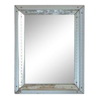 French Art Deco Mirror, 1940s For Sale
