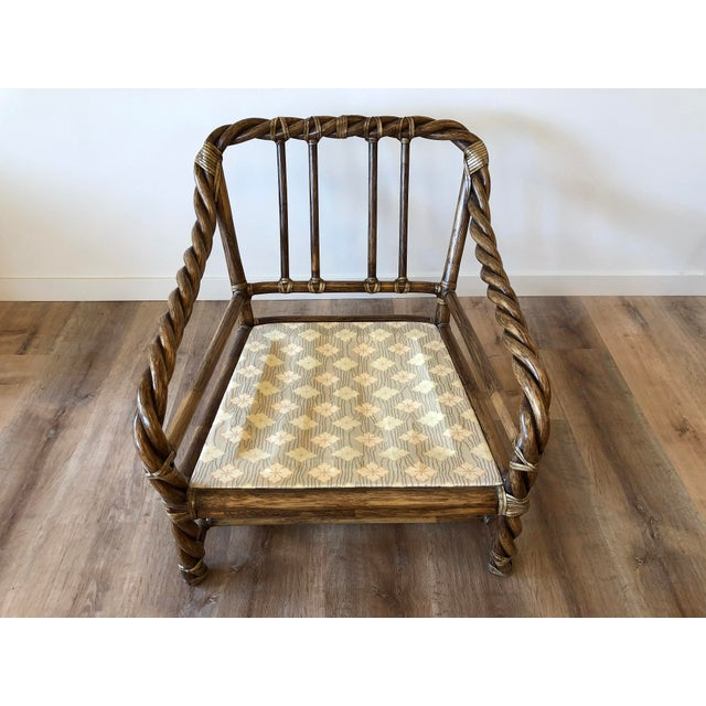 Wood Vintage McGuire Braided Rattan Chair For Sale - Image 7 of 13