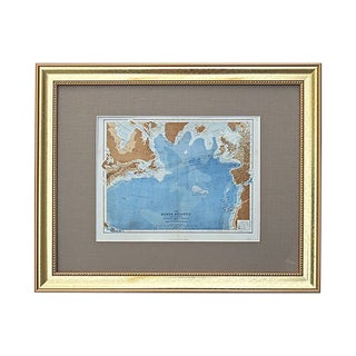 Antique Map of the North Atlantic For Sale