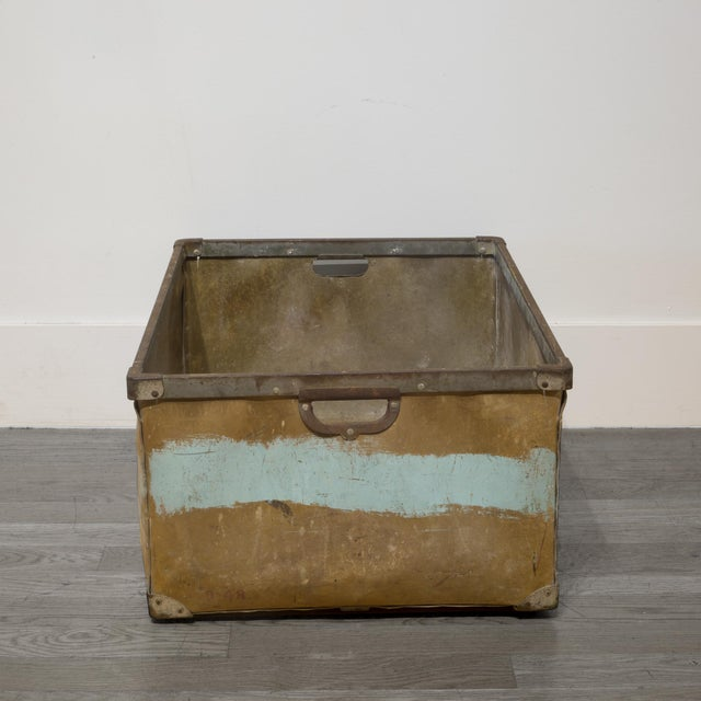 Mid 20th Century Large Vulcanized Canvas Factory Bin C.1948 For Sale - Image 5 of 8