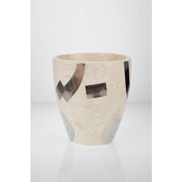 "Maitland - Smith 1990s Vintage Medium Postmodern Tessellated Stone ""Et Cetera"" Planter For Sale - Image 4 of 10"