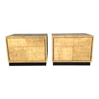 Vintage Faux Burl Nightstands, a Pair For Sale