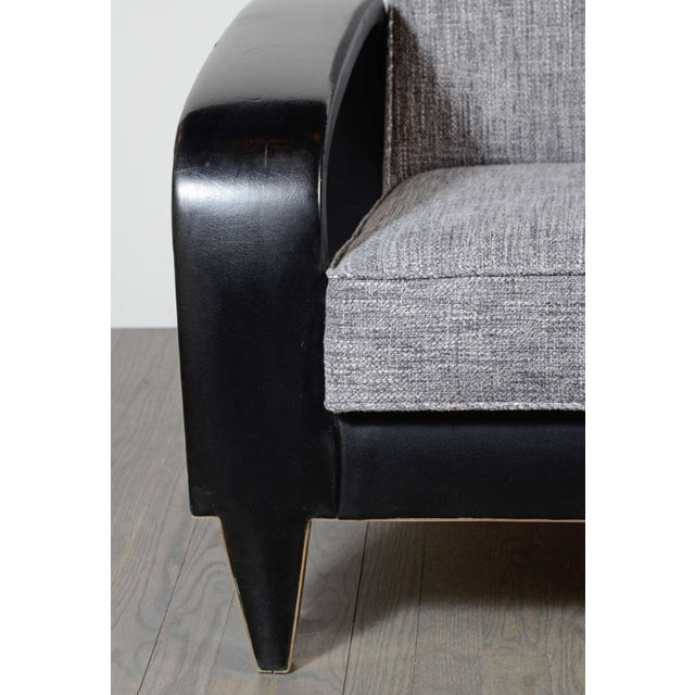 1930s Italian Art Deco Gray Upholstered Club Chair For Sale - Image 5 of 7