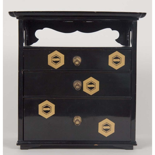Japanese Lacquer Cosmetics Cabinet For Sale - Image 9 of 13