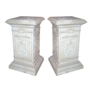 One Pair of 19th Century English Iron Garden Pedestals