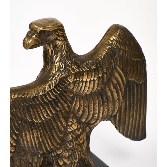 French Antique Bronze Eagle Statuette For Sale - Image 9 of 10
