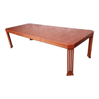 Stickley Mission Arts & Crafts Cherry Extension Dining Table, Restored For Sale