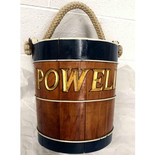 Rustic Handmade Nautical Wooden Bucket Powell Preview