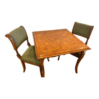 Guy Chaddock French Parkay Top Game Table For Sale