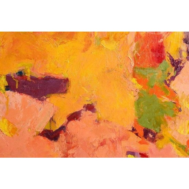 1950s 1957 Abstract Multi-Color Framed Oil on Canvas Painting by Carol Haerer For Sale - Image 5 of 9