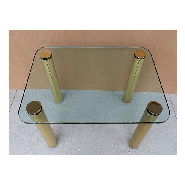 Glass Mid-Century Modern Pace Collection Side Table For Sale - Image 7 of 7