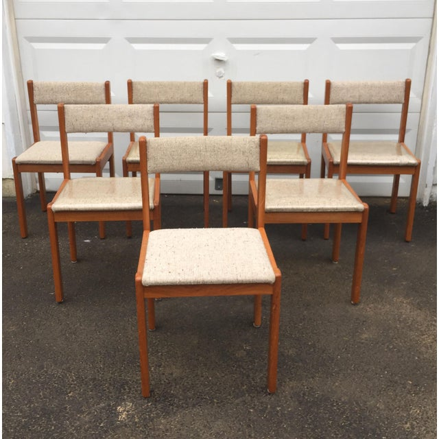 Scandinavian Modern Dining Chairs - Set of 7 - Image 2 of 11