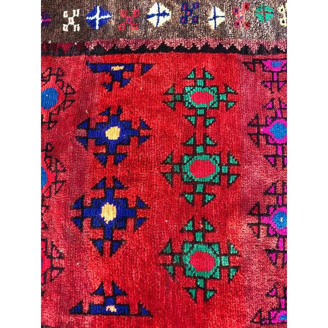 Vintage Turkish Anatolian Rug - 3′ × 6′8″ For Sale - Image 10 of 11