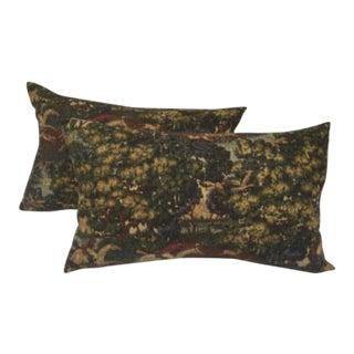 Gorgeous English Fox Hunt Linen Pillows - Pair For Sale