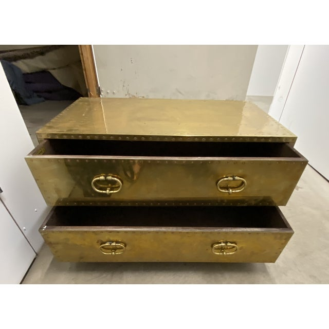 2010s Gold Chest of Drawers Cocktail Table For Sale - Image 5 of 9