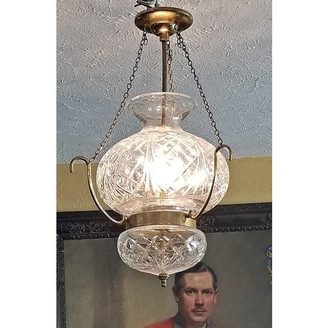 Mid 20th Century Mid Century Irish Waterford Crystal Traditional Style Chandelier For Sale - Image 5 of 6