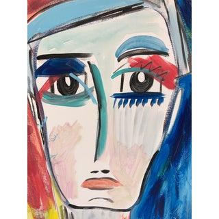 "Anastasia George ""Nolan"" Original Acrylic Male Portrait Painting Preview"