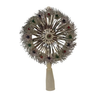Vintage Lighted Holiday Tree Topper For Sale