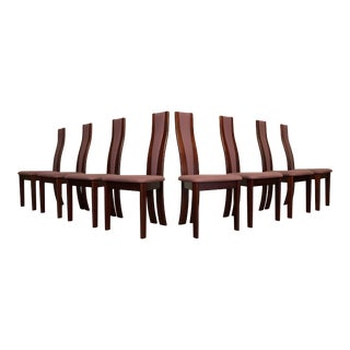 Vamdrup Stolefabrik High Back Dining Chairs - Set of 8 For Sale
