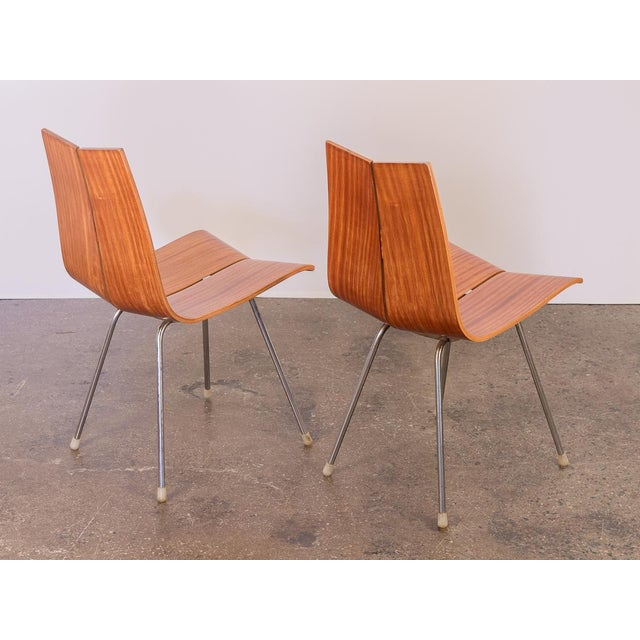 Danish Modern Hans Bellmann GA Molded Dining Chairs - a Pair For Sale - Image 3 of 11