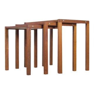 Danish Teak Nesting Tables by Bent Silberg - Set of 3 For Sale