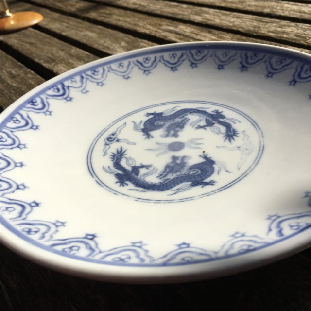 Blue and White Chinoiserie Porcelain Plate - Image 4 of 5