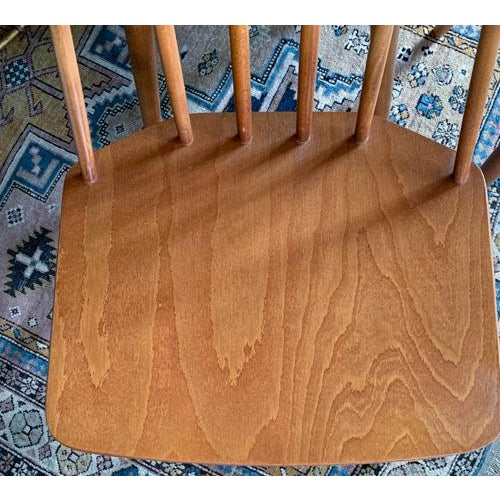 Folke Pålsson Folke Palsson for Fdb Mobler Mid Century Model J77 Chairs Circa 1970's For Sale - Image 4 of 11
