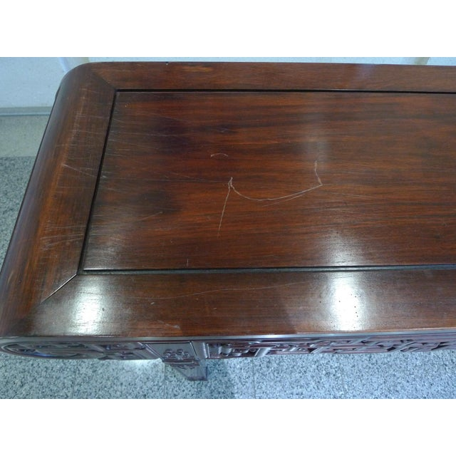 20th Century Elmwood Asian Altar Table For Sale - Image 5 of 8