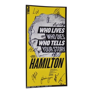 HAMILTON - OFF Broadway Original Poster Cast Signed Lin-Manuel Miranda, etc. 2015
