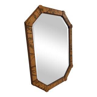Faux Marble Octagonal Mirror For Sale