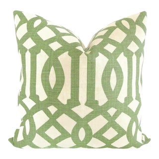 Green Trelliage Imperial Trellis Decorative Pillow Cover, 20x20